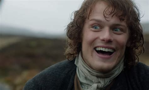 Arquette Barely Keeps The In At A Scottish Fashion Event by Hilarious Reel Shows Outlander Sam Heughan And