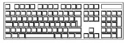 blank keyboard template printable primary resources ict word processing dtp