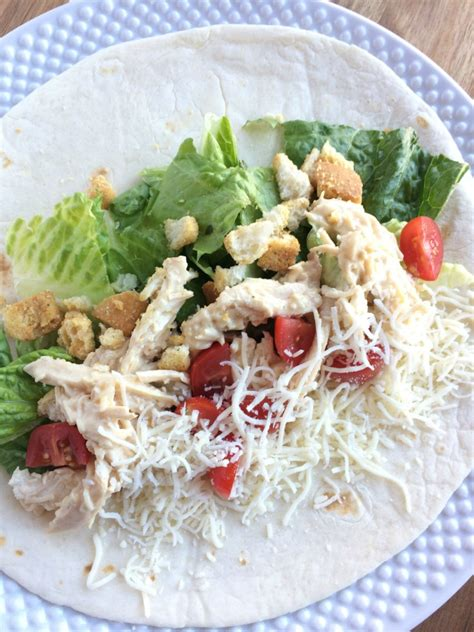 Wich Of The Week Chicken Caesar Wraps by Chicken Caesar Salad Wraps Together As Family