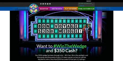 Www Wheeloffortune Com Sweepstakes - wheel of fortune winthewedge promotion bring home 350 cash and a piece of wheel of