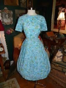 vintage 50 s 60 s water color floral dress w nip waist skirt xl ebay