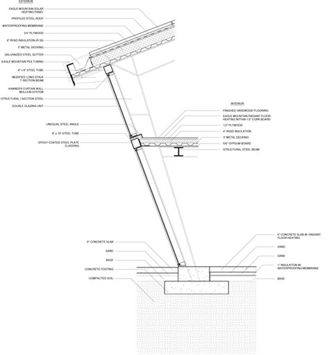 exterior wall section tilt house kristopher fuentes archinect