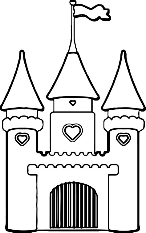 coloring page of a princess castle disney castle princess cinderella vinyl wall