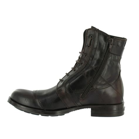 bronx mens boots bronx bronx 43372 b mens leather boots brown