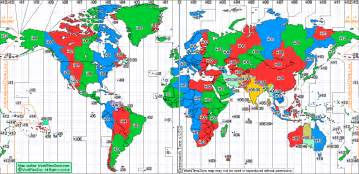 Time Zones Map by Pics Photos World Time Zones