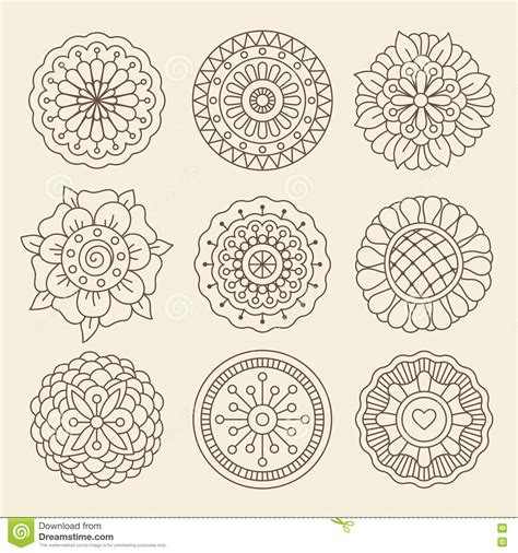tattoo flower graphic mehndi indian henna tattoo flowers stock vector image