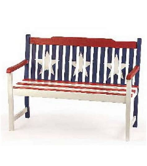 americana bench americana painted bench flower garden patio pretties