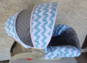 Car Seat Covers For Newborns Baby Car Seat Cover Aqua Chevron With Charcoal Cars