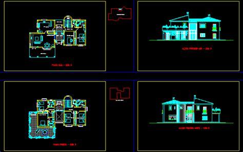 villa plans 2d dwg plan for autocad designs cad