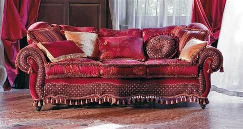 Sofa Halbrund by Upholstered Sofa Sinuous Lines Classic Style Idfdesign