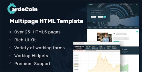 Cardocoin Cryptocurrency And Bitcoin Multipage Html5 Template Download Cardocoin Cryptocurrency Html Template Free