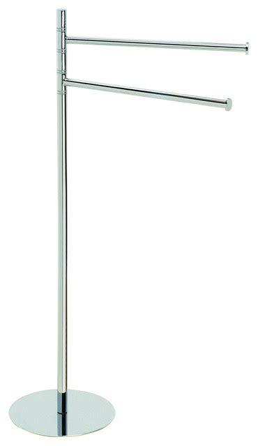 Modern Towel Racks by Omnia Freestanding Towel Rack Satin Nickel Modern