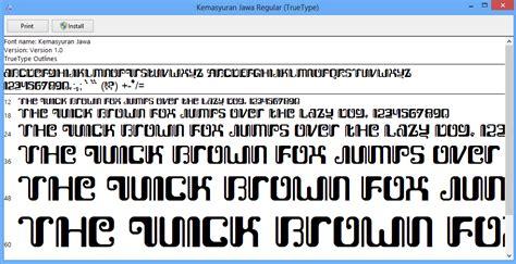 software design huruf font huruf jawa graphic design by tara free download