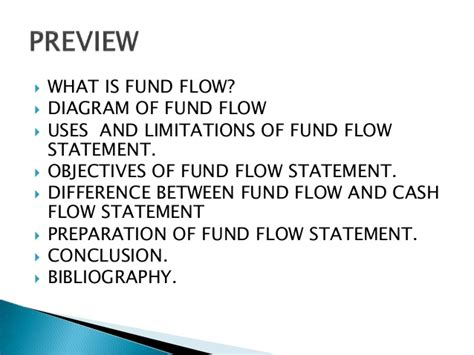 objectives of fund flow statement fund flow ppt