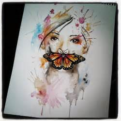 watercolor tattoo girl inspiration watercolor butterfly
