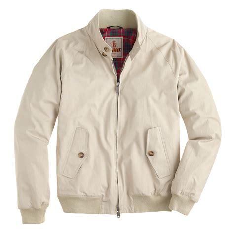 Jaket Original Merek J Crew j crew baracuta g9 harrington jacket in beige for lyst