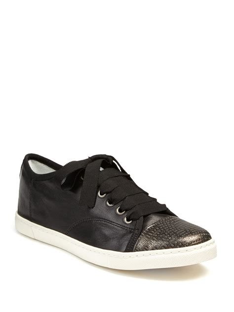 lanvin s sneakers lanvin leather metallic snake embossed leather sneakers