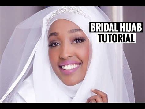 tutorial hijab wedding simple bridal hijab tutorial tuto hijab mari 201 e youtube