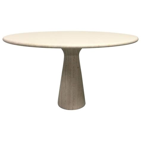 travertine dining room table travertine circular dining table by angelo mangiarotti at