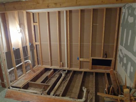 bathroom floor joists need some help sagging floor joists remodeling