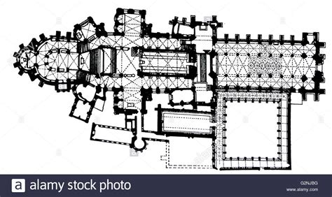 canterbury cathedral floor plan canterbury cathedral floor plan stock photo royalty free