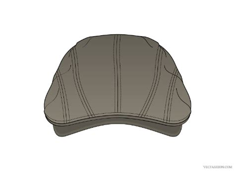 flat cap template vf208 flat cap vector template other files patterns