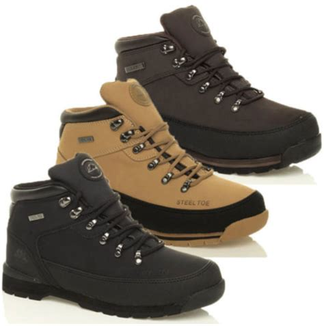 Sepatu Boot Original Azcost Hiker Safety Boot Leather Sued V2 Promo mens safety steel toe cap boots leather hiking work shoes trainers size 7 11