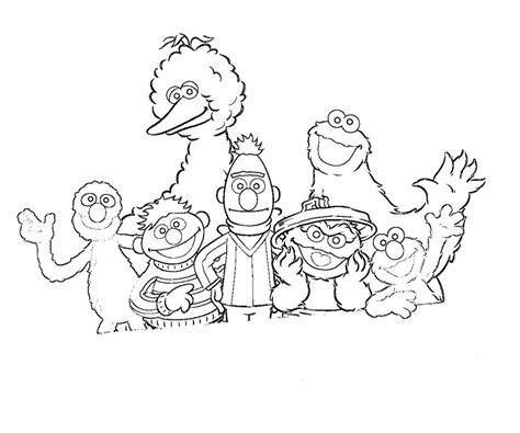 sesame street characters coloring pages az coloring pages