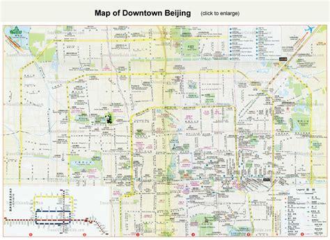 beijing map beijing tourist map beijing mappery