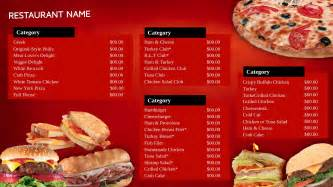 Fast Food Menu Design Templates by Restaurant Signage Templates Signagecreator