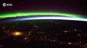 International Space Station Aurora Borealis Above Canada aurora borealis from space bing images