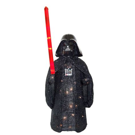 home depot star wars lights 36 in darth vader star wars tinsel yard decor sale 69 98