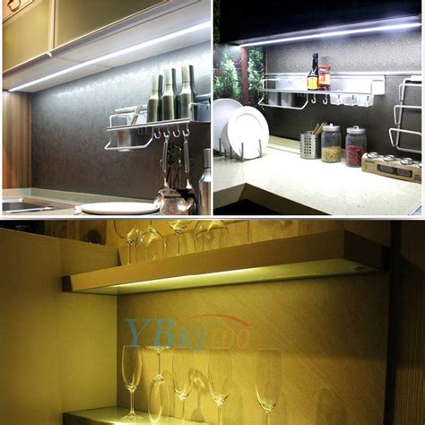 kitchen under cabinet 5050 bright lighting kit warm white 4pcs bar kitchen under cabinet counter led night light