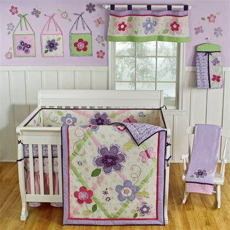 lavender crib bedding sets sumersault lily crib bedding lavender baby bedding and