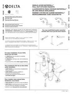 delta kitchen faucet repair instructions delta plumbing product 474 series user s guide