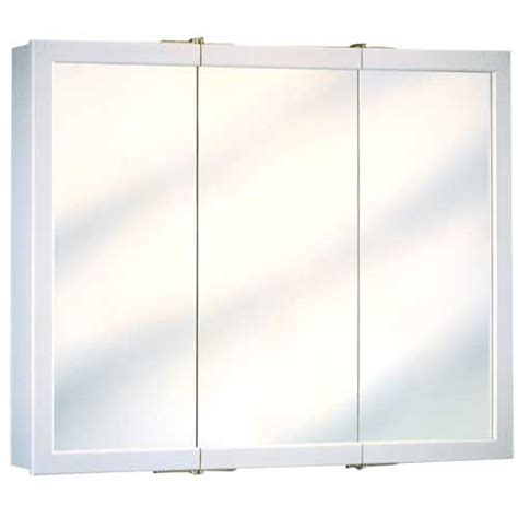 3 way mirror cabinet 3 door medicine cabinet rona