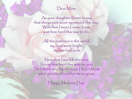 touching mothers day poems  kids