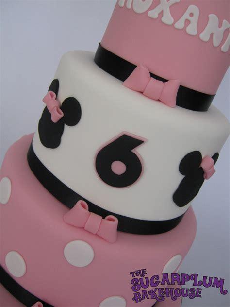 minnie mouse decor cakecentral com mini 3 tier minnie mouse birthday cake cakecentral com