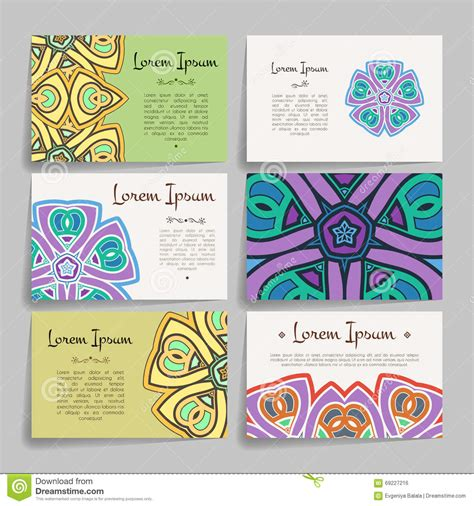 free circle business card templates set of design templates vintage frames and backgrounds
