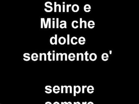 mila e shiro sigla testo mila e shiro due cuori nella pallavolo strumentale con