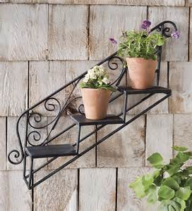 wrought iron shelves for plants hanging staircase plant shelf plant stands