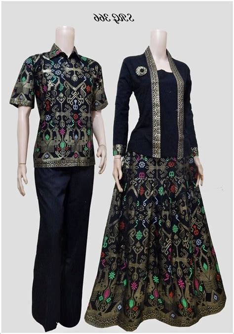design baju batik terkini model baju batik couple terbaru black models picture