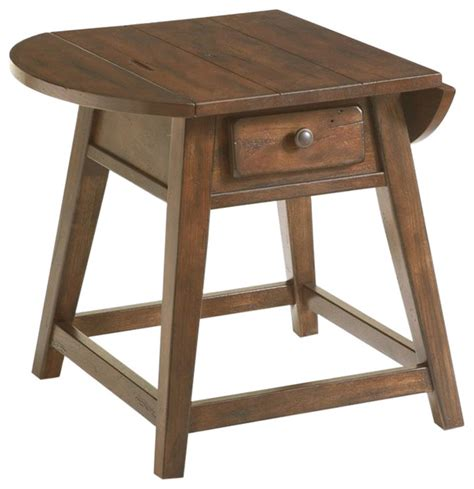 Broyhill Side Table by Broyhill Attic Heirlooms Splay Leg End Table Rustic Oak Side Tables And End