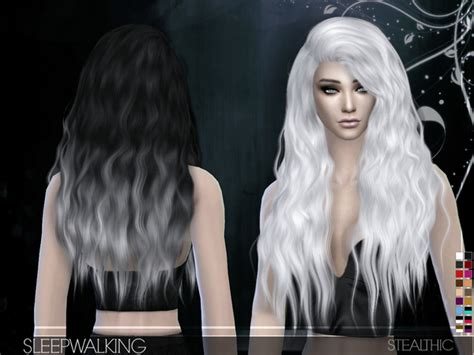 custom hair for sims 4 sleepwalking female hair by stealthic at tsr 187 sims 4 updates