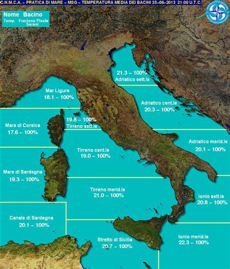 mari bagnano l italia le acque mediterraneo cominciano a riscaldarsi ma nei