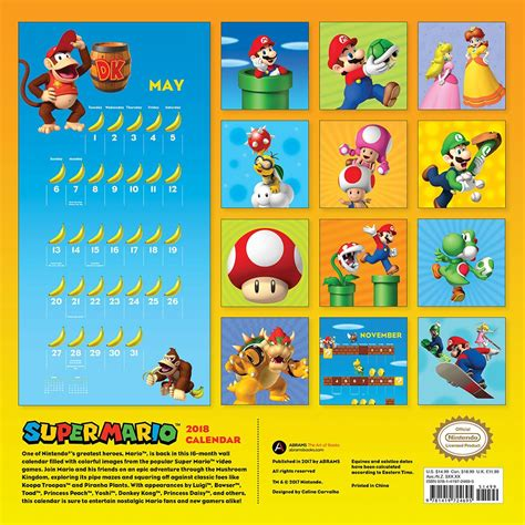 fowl language 2018 wall calendar mario 2018 wall calendar complete overview for