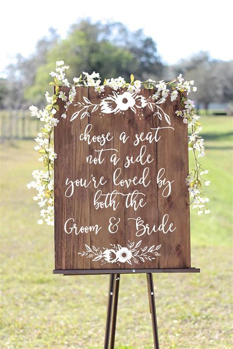 Wedding Quotes A Seat Not A Side by Choose A Seat Not A Side You Re Loved By Both The Groom