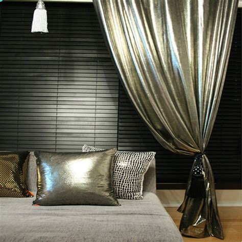 metallic curtain panels handmade stunning silver metallic glamorous curtain