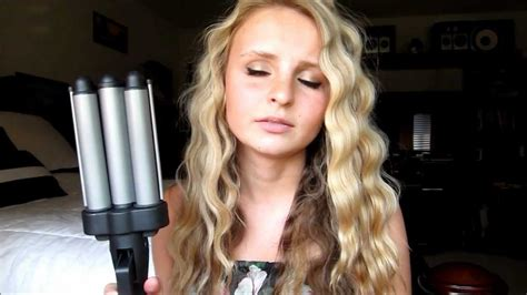 revlon ceramic 3 barrel jumbo waver review and demo youtube