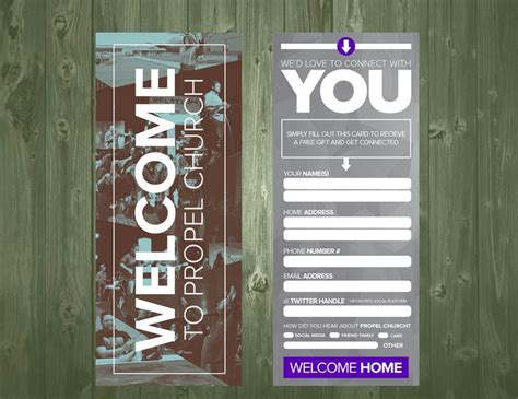 Welcome Card Design Template by 17 Best Images About Church Visitor Ideas On